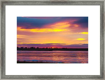 Beautiful Colorful Boulder County Winter Morning Framed Print by James BO  Insogna
