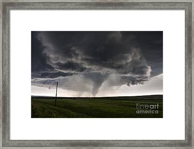 Beautiful Cone Tornado Framed Print by Francis Lavigne-Theriault