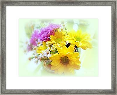 Beautiful Daisy Floral Framed Print by Kay Novy