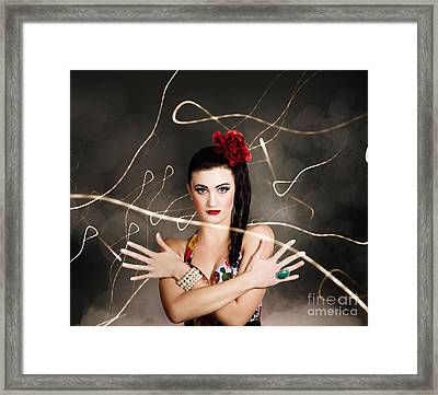 Beautiful Girl In Retro Fashion Style Framed Print by Jorgo Photography - Wall Art Gallery