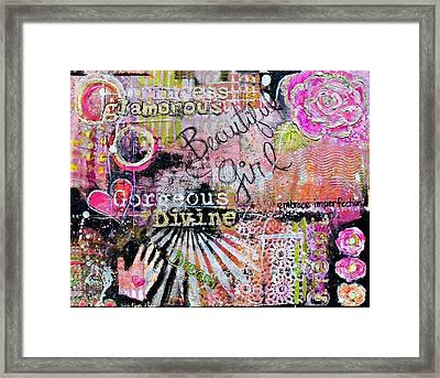 Beautiful Girl Framed Print by Sarah  Bloom Kinser