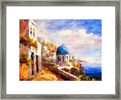 Beautiful Greece Framed Print by Georgiana Romanovna