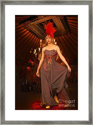 Beautiful Lady Framed Print by Charuhas Images