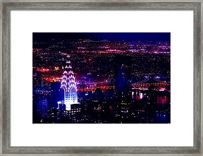 Beautiful Manhattan Skyline Framed Print by Az Jackson