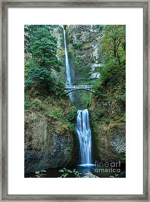 Beautiful Multnomah Falls Framed Print by Robert Bales