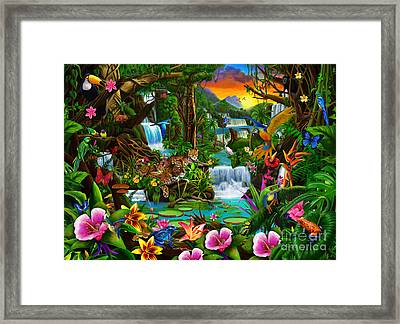 Beautiful Rainforest Framed Print by Gerald Newton