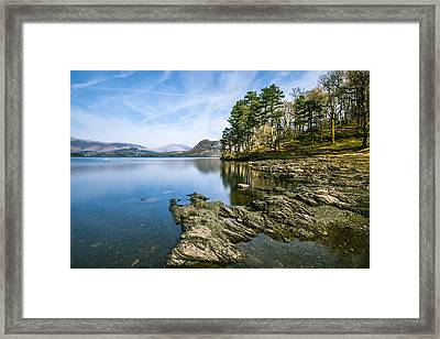 Beautiful Scene At Derwentwater In The Lake District. Framed Print by Daniel Kay