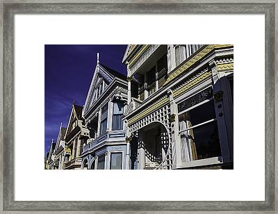 Beautiful Victorian Homes Framed Print by Garry Gay