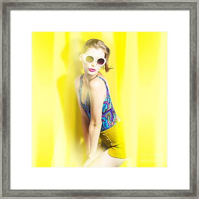 Beauty And Fashion Pinup Girl Framed Print by Jorgo Photography - Wall Art Gallery