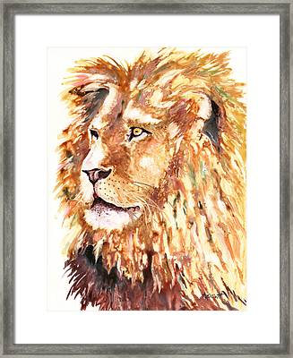 Beauty And Strength Framed Print by Marsha Elliott
