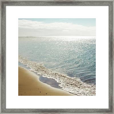 Beauty And The Beach Framed Print by Sharon Mau