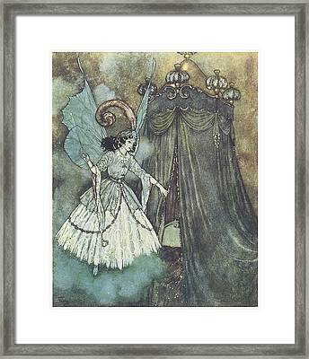 Beauty And The Beast Framed Print by Edmund Dulac