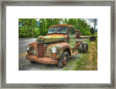 Beauty And The Best 1947 International Harvester Kb 5 Truck Framed Print by Reid Callaway