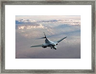Beauty And The Bone Framed Print by Peter Chilelli