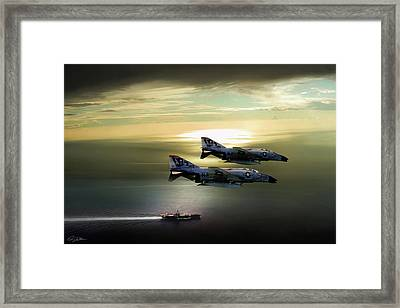 Beauty And The Bones Framed Print by Peter Chilelli