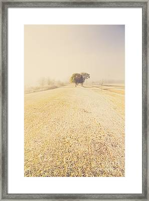 Beauty In A Snow Capped Landscape Framed Print by Jorgo Photography - Wall Art Gallery