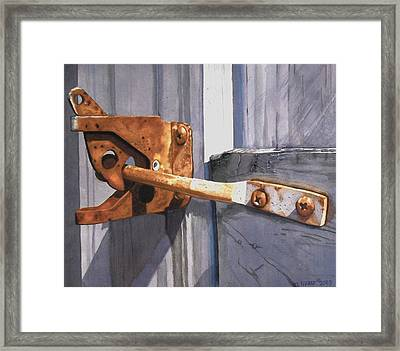 Beauty In The Breakdown Framed Print by Cory Clifford