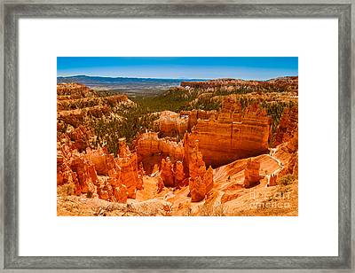 Beauty Of Bryce Canyon Framed Print by Robert Bales