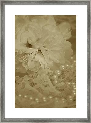 Beauty Pearls Framed Print by  The Art Of Marilyn Ridoutt-Greene
