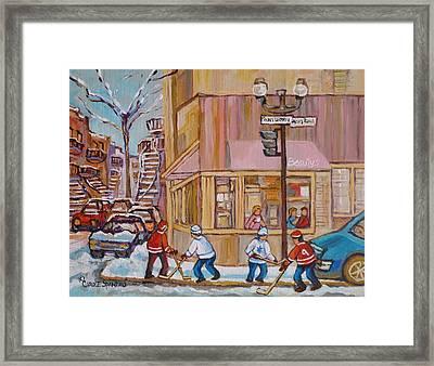 Beautys Restaurant  Framed Print by Carole Spandau