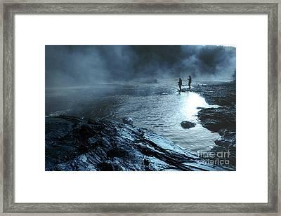 Beaver's Ben Fog Fishing Framed Print by Tamyra Ayles