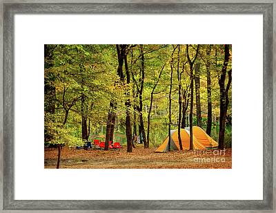 Beaver's Bend Camping Framed Print by Tamyra Ayles
