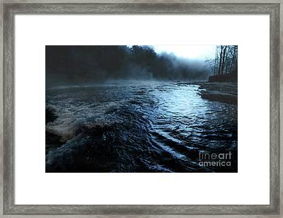 Beaver's Bend Fog Framed Print by Tamyra Ayles