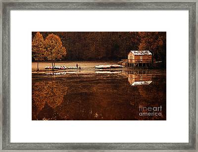 Beaver's Bend Quiet Morning Framed Print by Tamyra Ayles