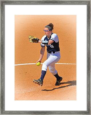 Becca Delivers Framed Print by Mike Martin