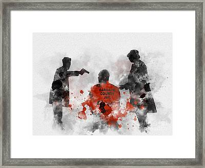 Become Wrath Framed Print by Rebecca Jenkins