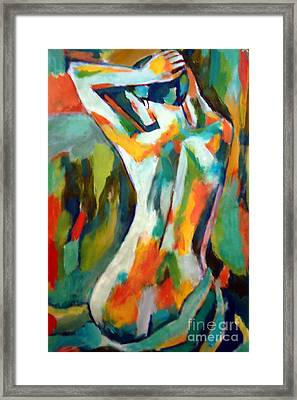 Becoming Figure Framed Print by Helena Wierzbicki