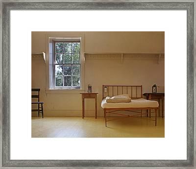 Bed - Infirmary - Fort Larned - Kansas Framed Print by Nikolyn McDonald