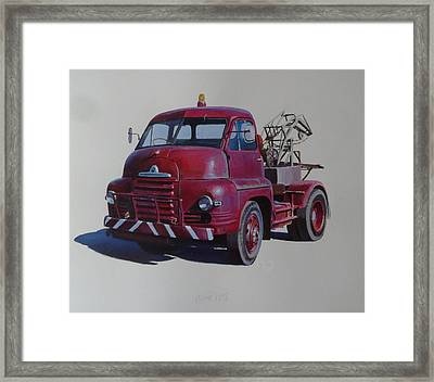 Bedford S Type Wrecker. Framed Print by Mike  Jeffries