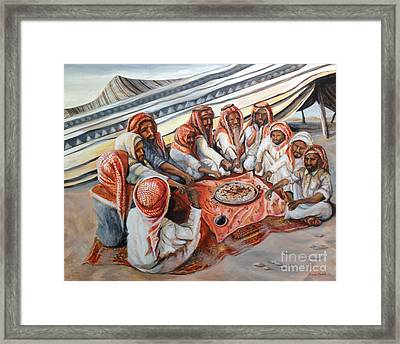 Bedouin At Dusk Framed Print by Yvonne Ayoub