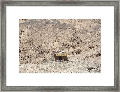bedouin house in the desert in Egypt Framed Print by Joana Kruse