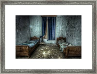 Bedroom For Two Framed Print by Nathan Wright