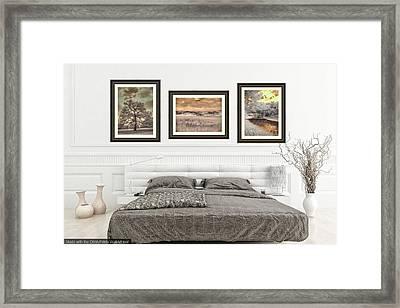 Bedroom Home Decor Framed Print by Jane Linders