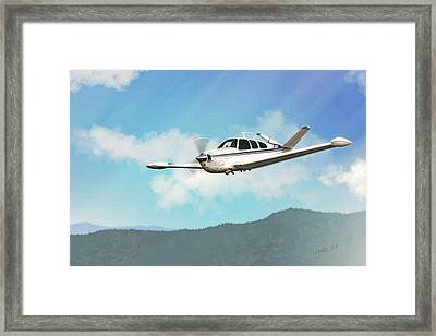 Beechcraft Bonanza V Tail Framed Print by John Wills