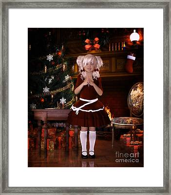 Been Good Santa Framed Print by Shanina Conway
