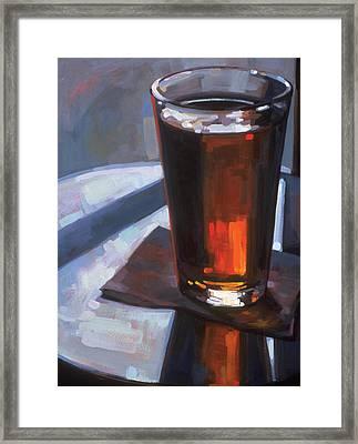 Beer At Vesuvios Framed Print by Penelope Moore