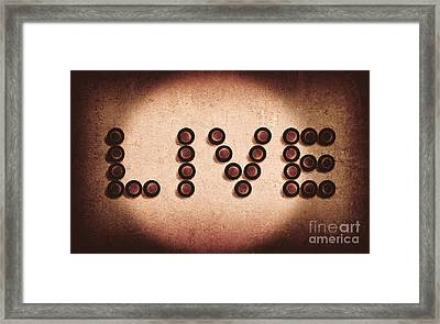 Beer Bottles Spelling Out The Word Live Framed Print by Jorgo Photography - Wall Art Gallery
