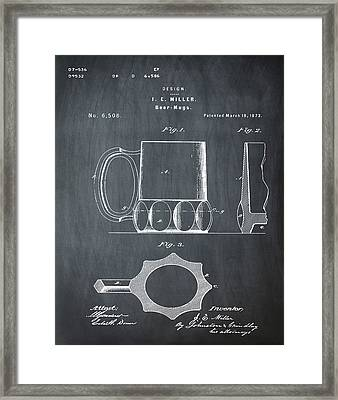 Beer Mug 1873 In Chalk Framed Print by Bill Cannon