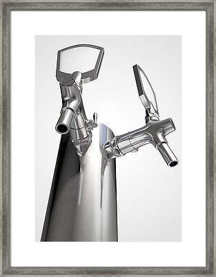Beer Tap Dual Isolated Framed Print by Allan Swart