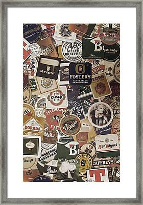 Beers Of The World Framed Print by Nicklas Gustafsson