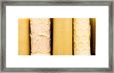 Beeswax Candles Framed Print by Tom Gowanlock