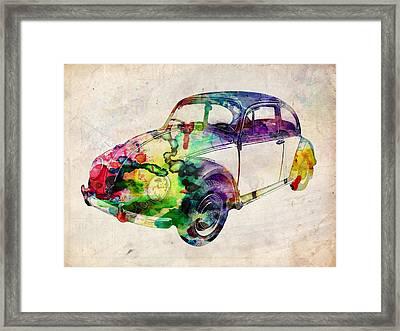 Beetle Urban Art Framed Print by Michael Tompsett