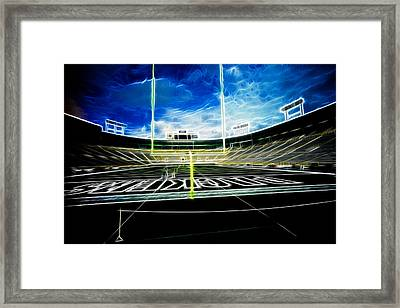 Before The Big Game Framed Print by Lawrence Christopher