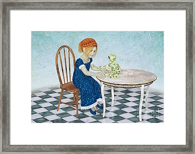 Beginning Of A Friendship Framed Print by Jutta Maria Pusl