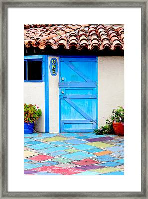 Behind Door Number One Framed Print by Art Block Collections