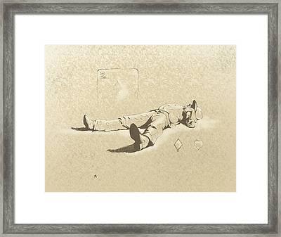Behind The Deuce Framed Print by Robert Martinez
